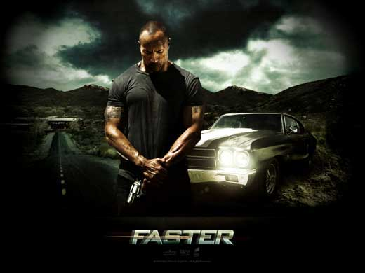 2010 Movie Posters: Faster (2010), Muscle Car Shoot