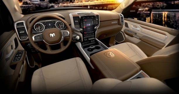 2019 Ram 1500 Laramie – Mountain Brown Interior