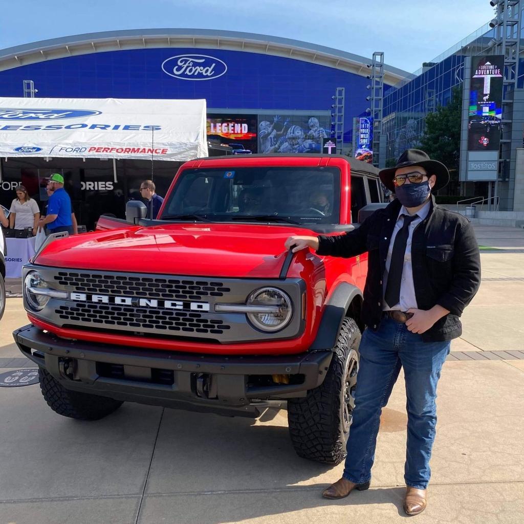 2021 Ford Bronco Texas Jesus Behind the Wheel
